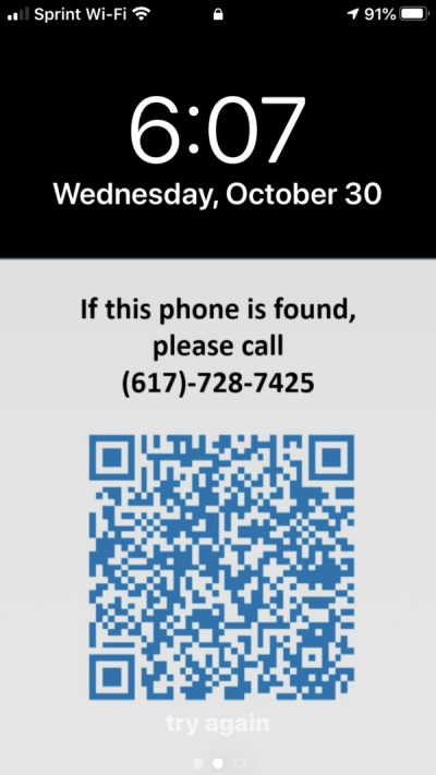iphone lock qr code